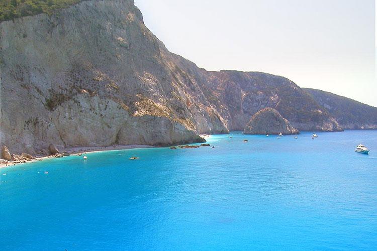 Lefkada Beach Scene